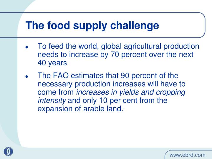 The food supply challenge