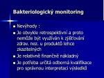 bakteriologick monitoring1