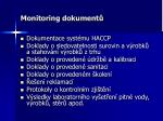monitoring dokument