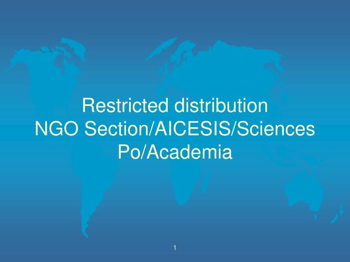 restricted distribution ngo section aicesis sciences po academia n.