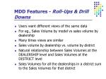 mdd features roll ups drill downs