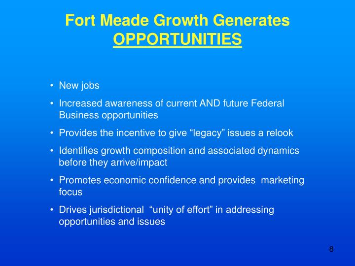 Fort Meade Growth Generates