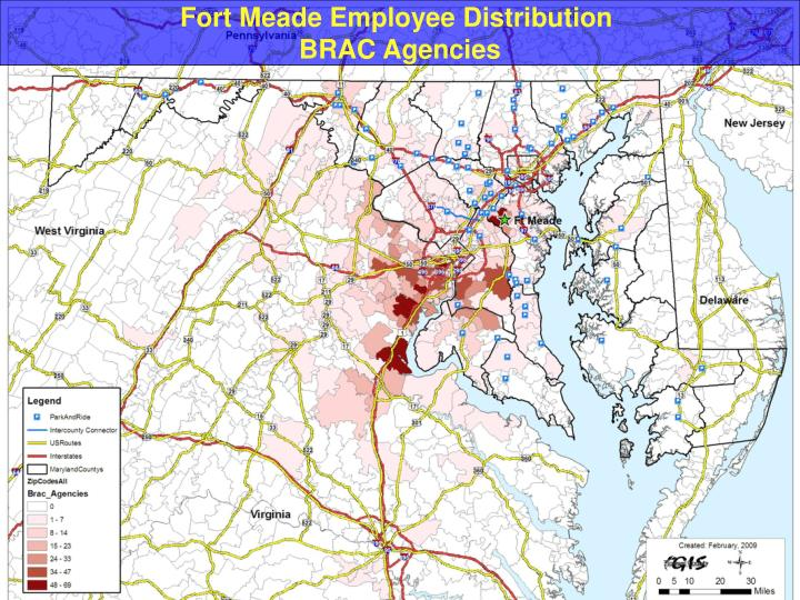 Fort Meade Employee Distribution