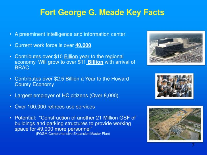 Fort George G. Meade Key Facts