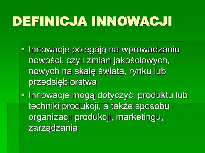 Definicja innowacji