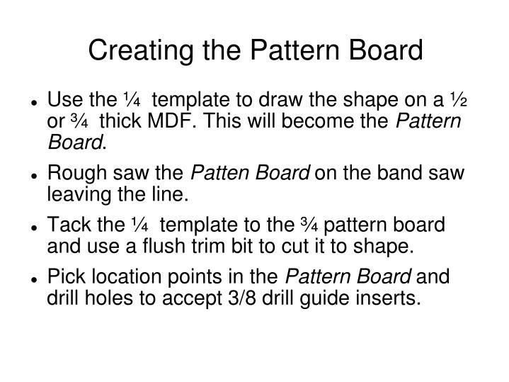 Creating the Pattern Board