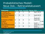 probabilistisches modell neue dok retrievalstatuswert