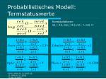 probabilistisches modell termstatuswerte