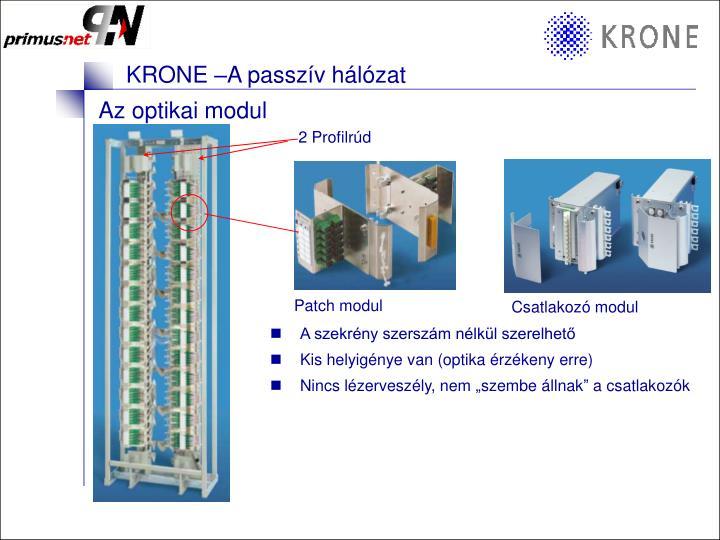Az optikai modul