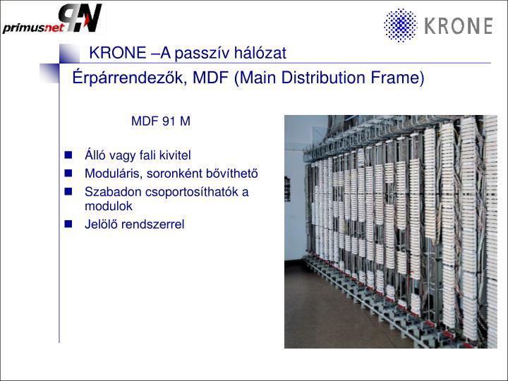 Érpárrendezők, MDF (