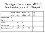 phenotypic correlations mri iq dutch twins a n 111 296 pairs
