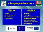 language adventure