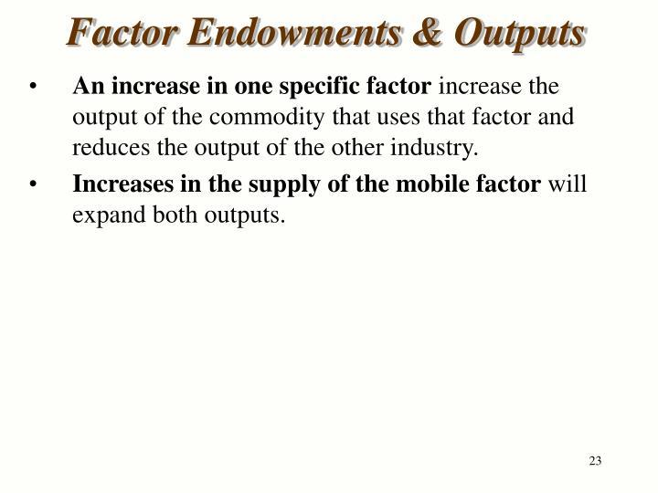 Factor Endowments & Outputs