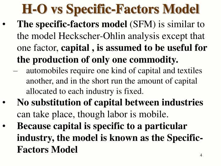 H-O vs Specific-Factors Model