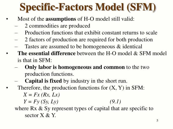 Specific-Factors Model (SFM)
