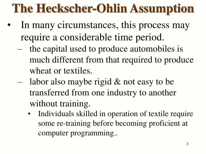 The heckscher ohlin assumption1