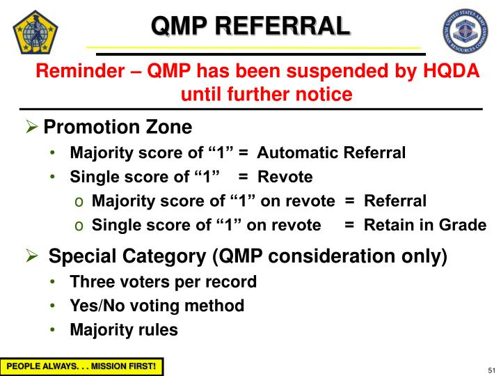 QMP REFERRAL
