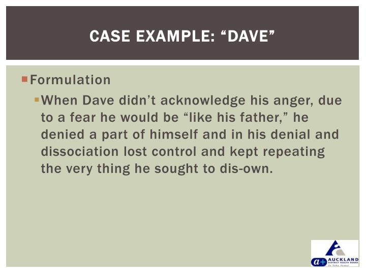 """CASE EXAMPLE: """"DAVE"""""""