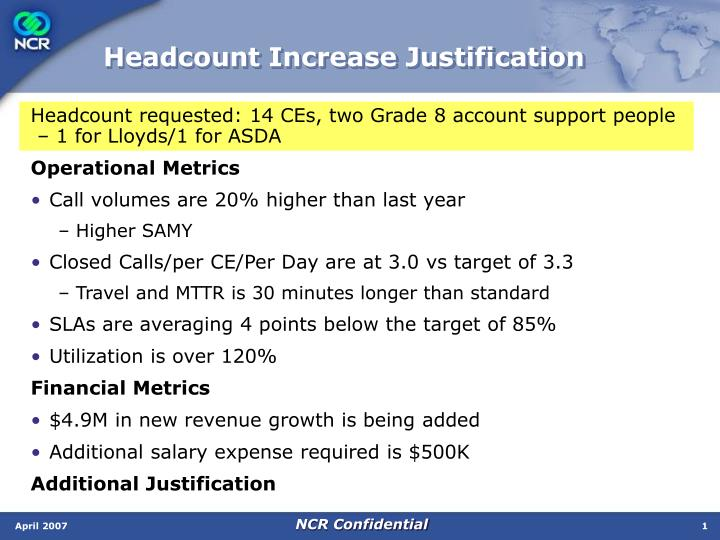 Ppt headcount increase justification powerpoint presentation headcount increase justification altavistaventures Image collections