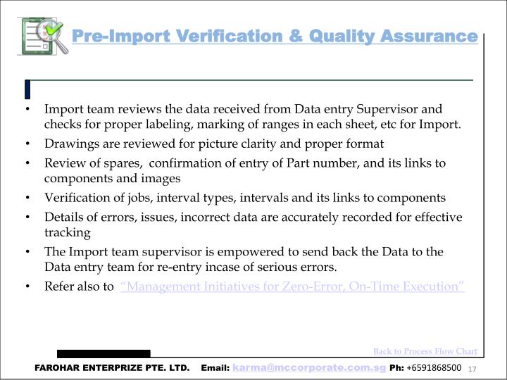 Pre-Import Verification & Quality Assurance