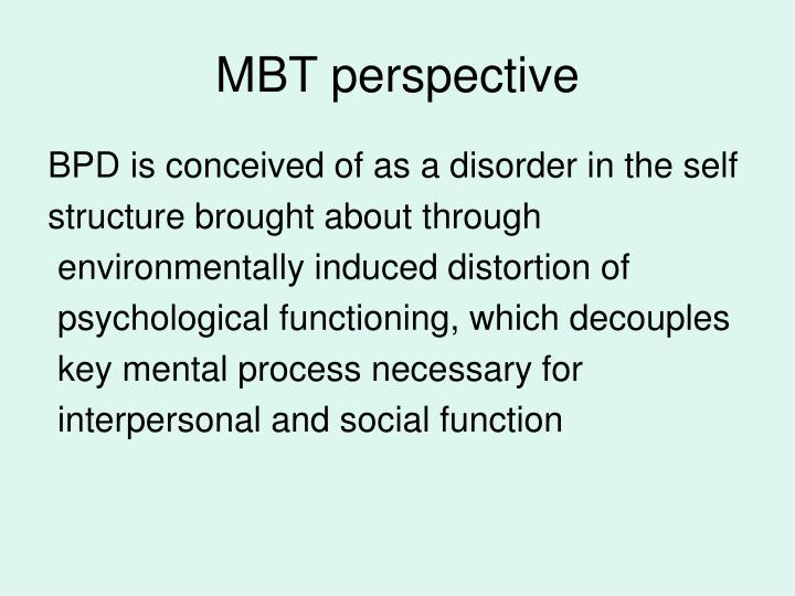 MBT perspective