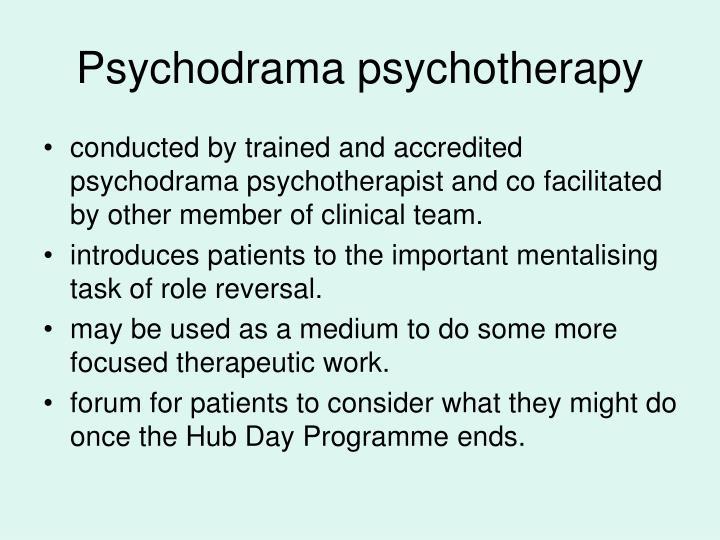 Psychodrama psychotherapy