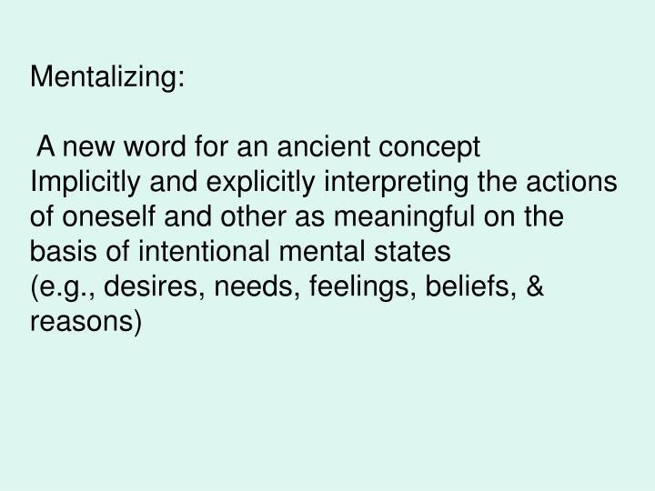 Mentalizing: