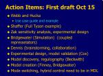 action items first draft oct 15