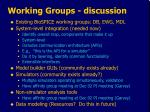 working groups discussion