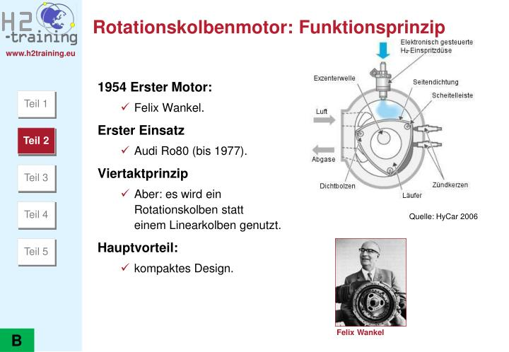 Rotationskolbenmotor: Funktionsprinzip