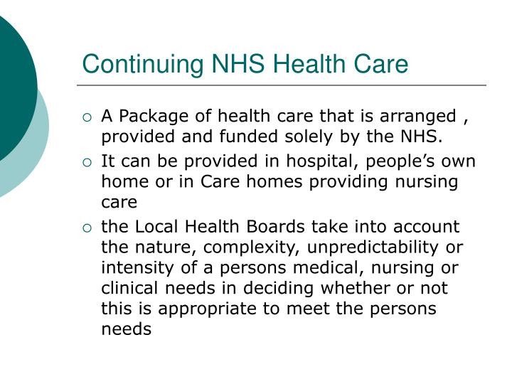 Continuing NHS Health Care
