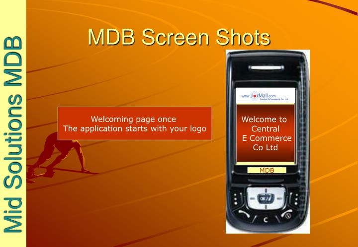 Mdb screen shots