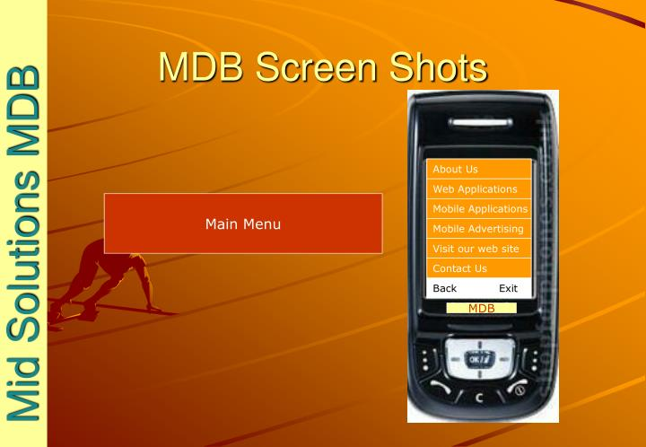 Mdb screen shots1