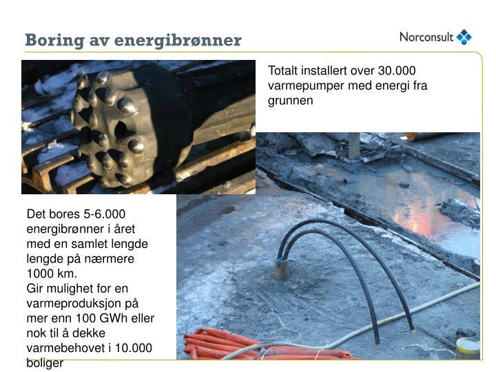 Boring av energibrønner
