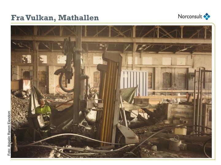 Fra Vulkan, Mathallen