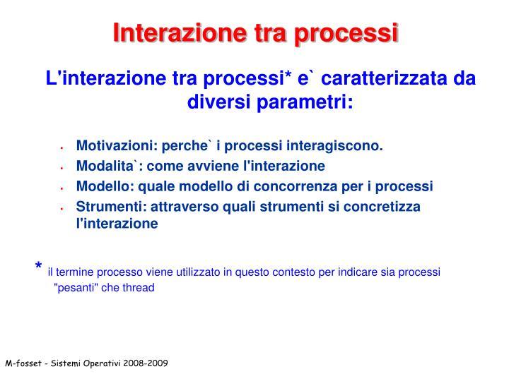 Interazione tra processi1