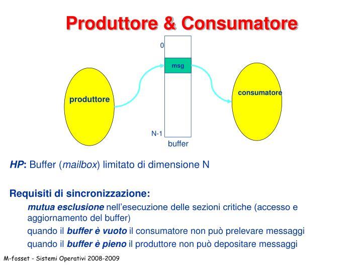 Produttore & Consumatore