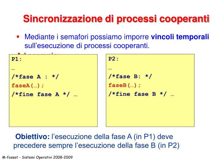 Sincronizzazione di processi cooperanti