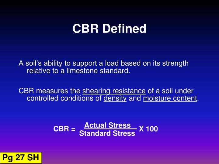 Cbr defined