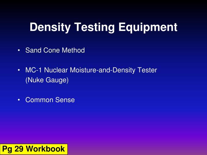 Density Testing Equipment