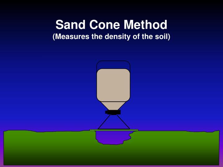 Sand Cone Method