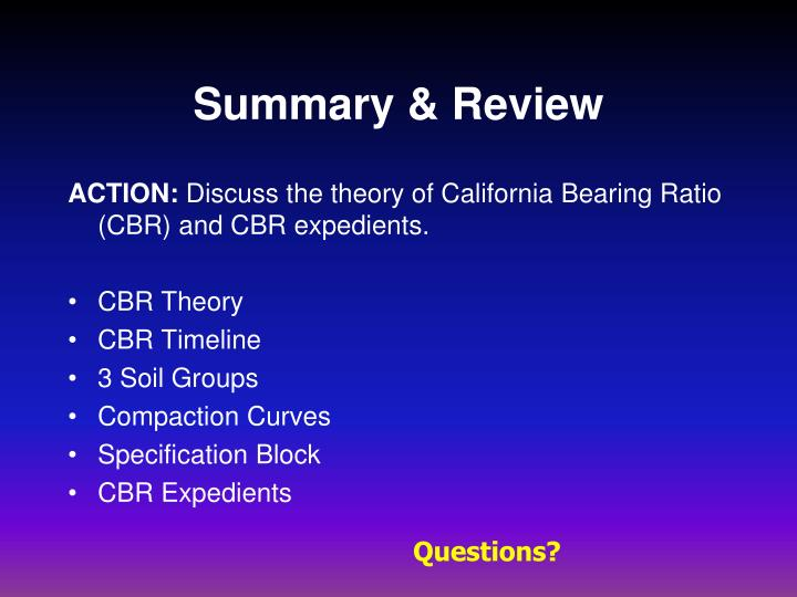 Summary & Review
