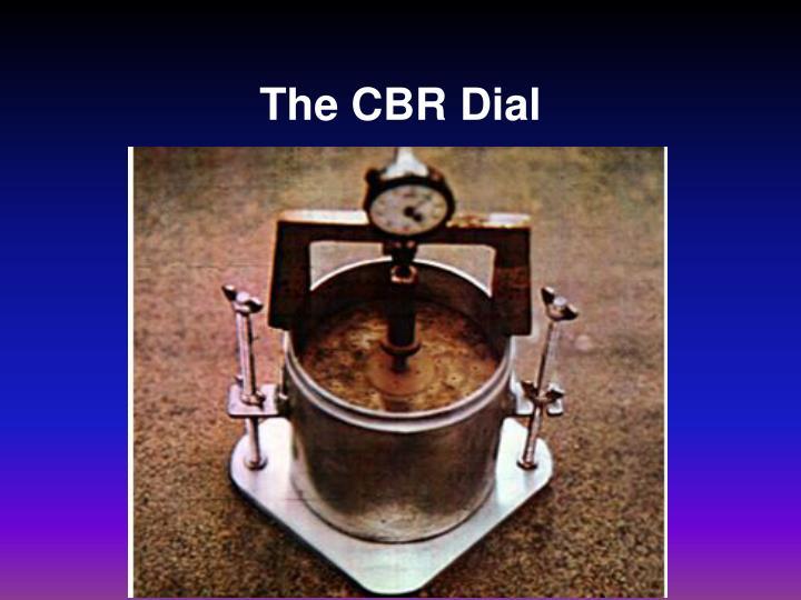 The CBR Dial