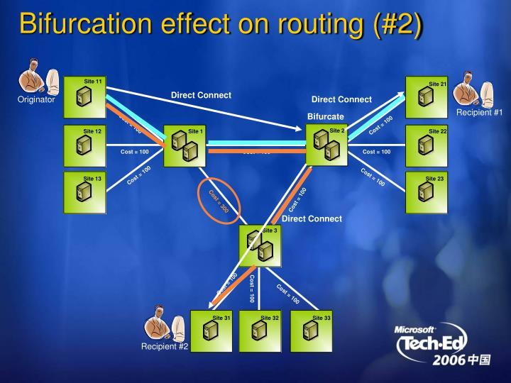 Bifurcation effect on routing (#2)