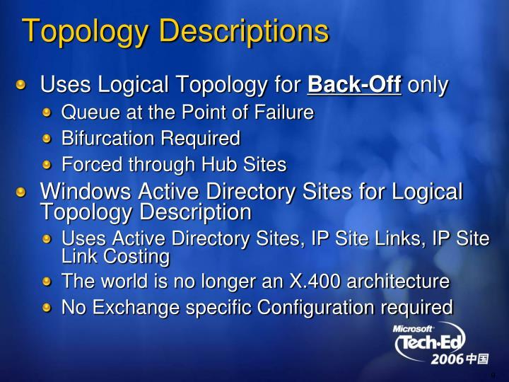 Topology Descriptions