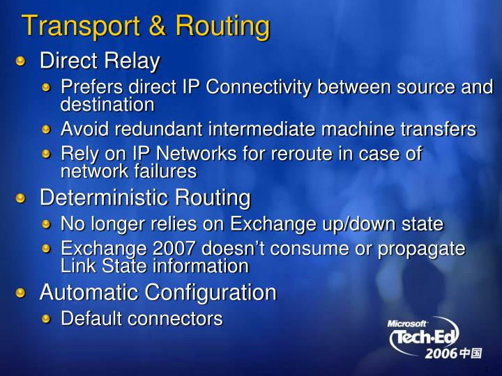 Transport & Routing