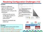 resolving configuration challenges 1 2