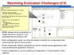 resolving evaluation challenges 2 31