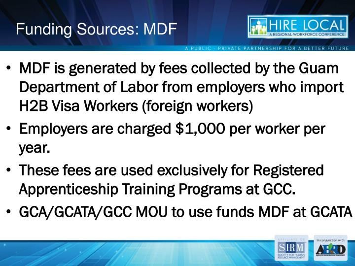 Funding Sources: MDF