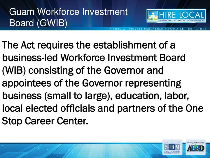 Guam Workforce Investment Board (GWIB)